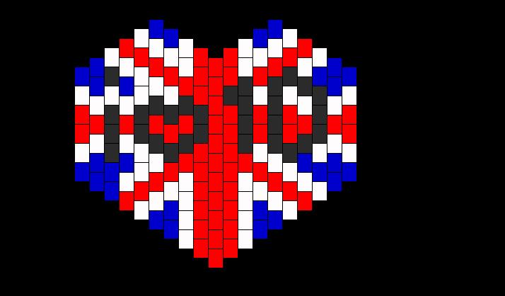 I Heart 1D  Bead Pattern