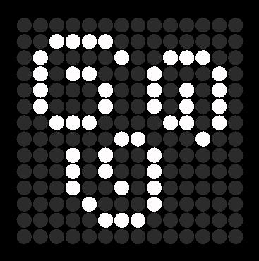 Airbender symbol perler