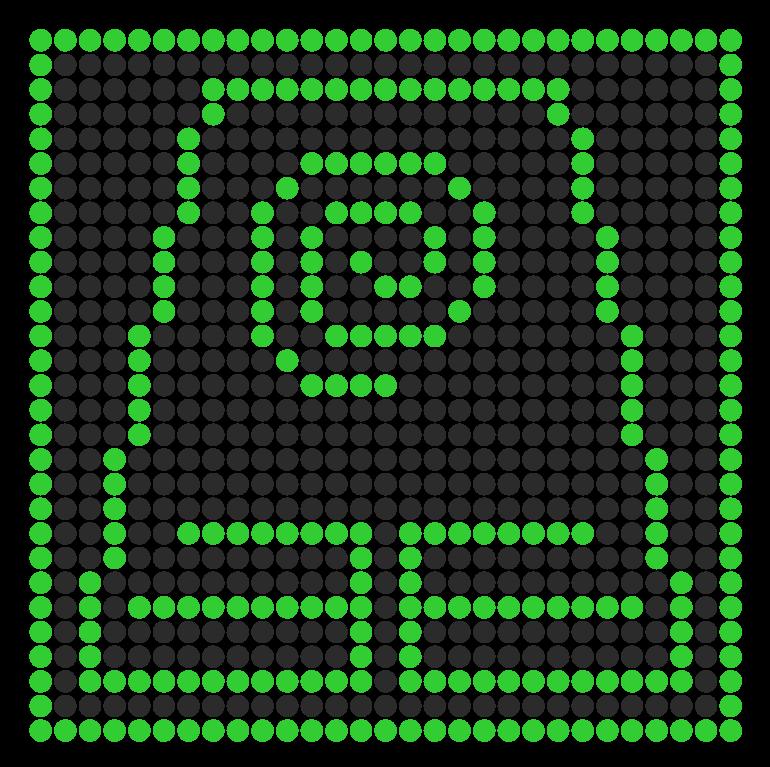 Earthbender Symbol Perler Perler Bead Pattern / Bead Sprite