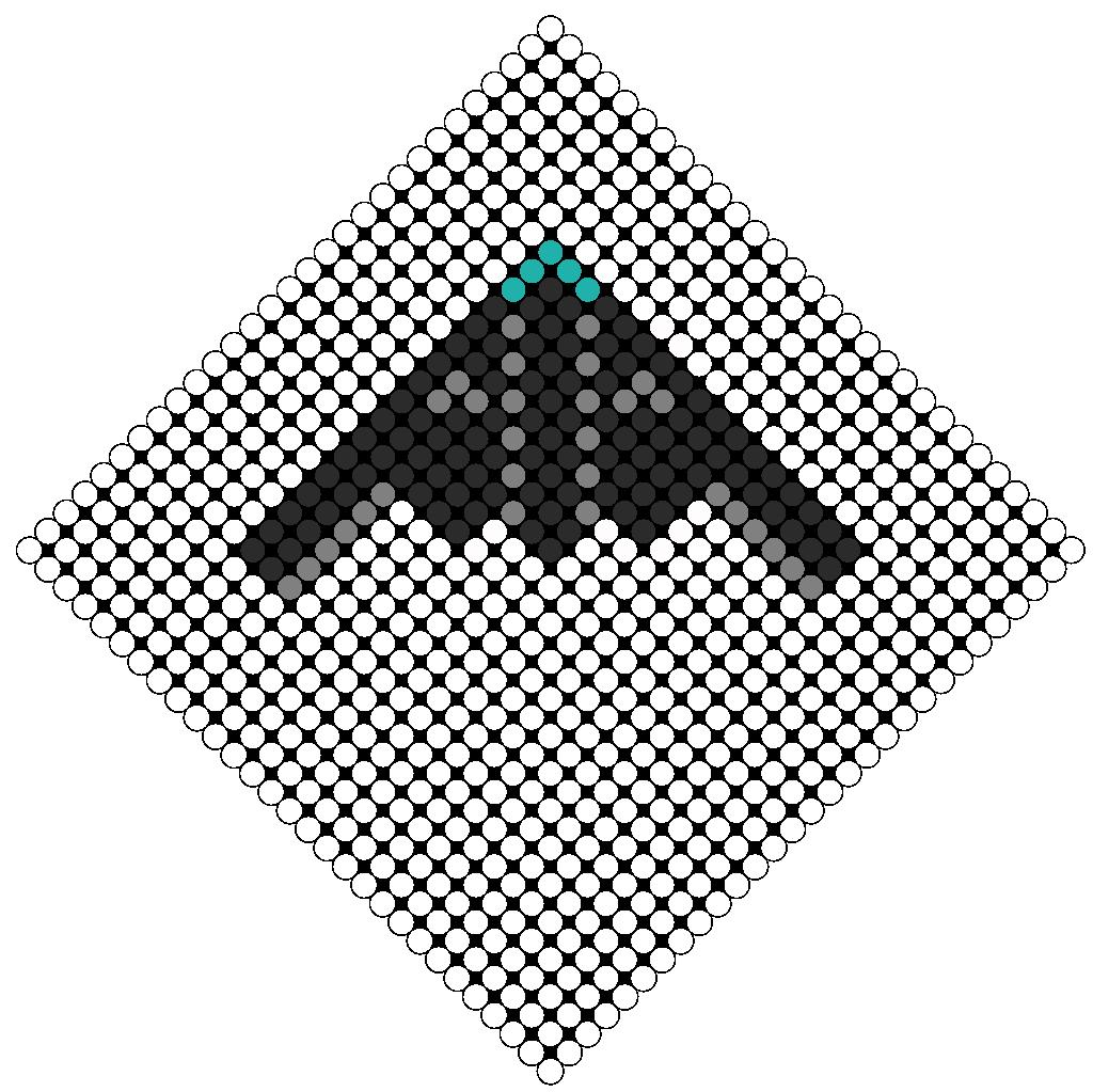 stealth bomber perler bead pattern