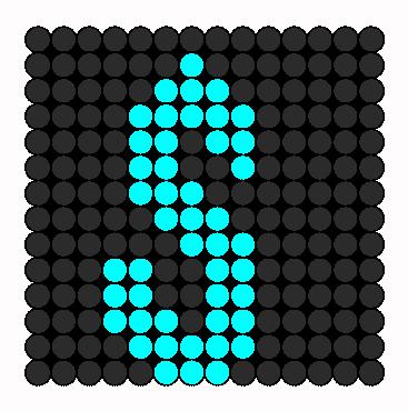 S Perler Bead Pattern / Bead Sprite