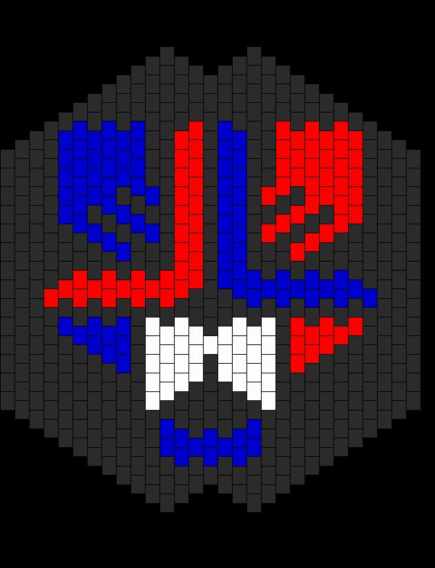 Laidback Luke LBL Mask Bead Pattern