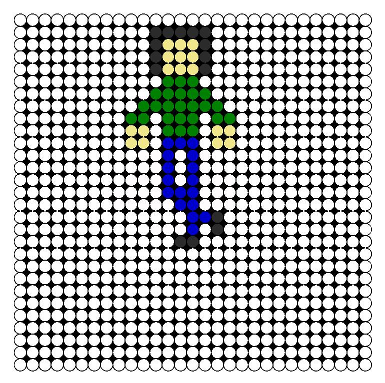 Man Perler Bead Pattern / Bead Sprite