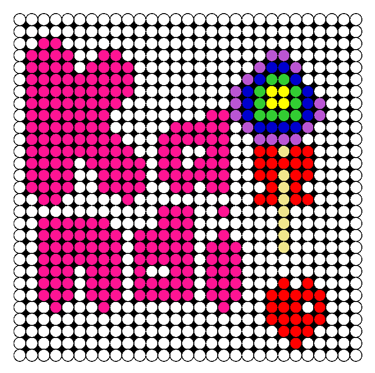 Kandi Patterns Perler Bead Pattern / Bead Sprite