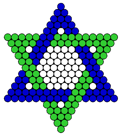 Jewish Star Perler Bead Pattern / Bead Sprite