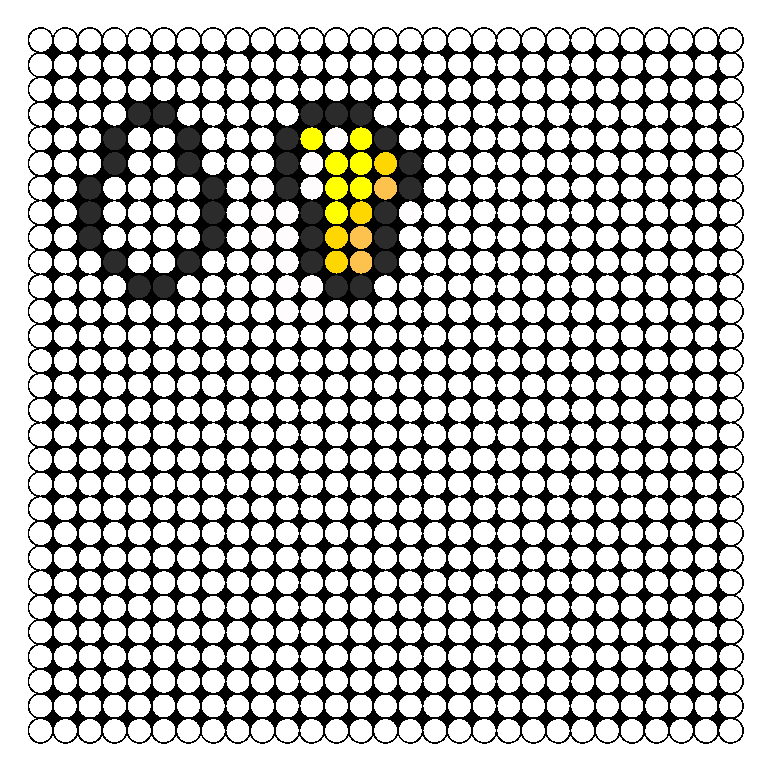 Minecraft Gold Nugget And Gast Tear Perler Bead Pattern / Bead Sprite