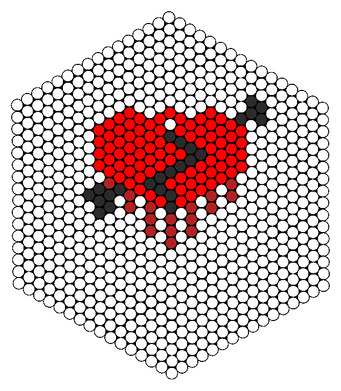 Bleeding Heart Perler Bead Pattern / Bead Sprite