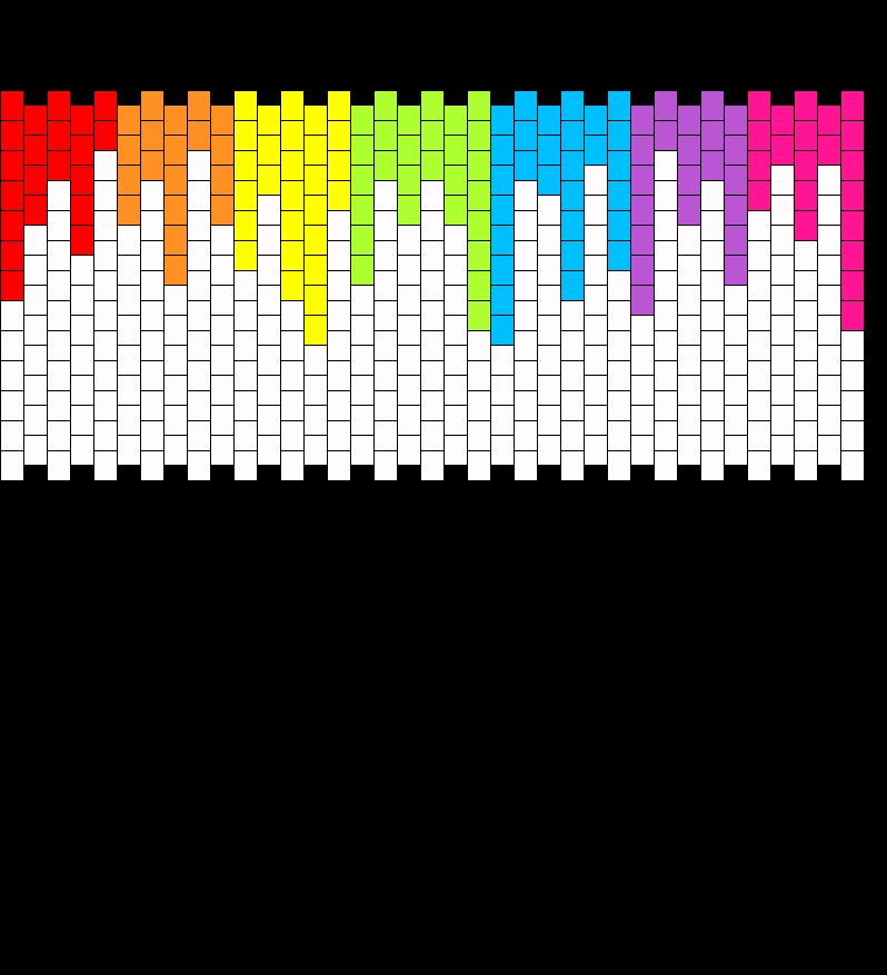 Rainbow Wallet Front Bead Pattern