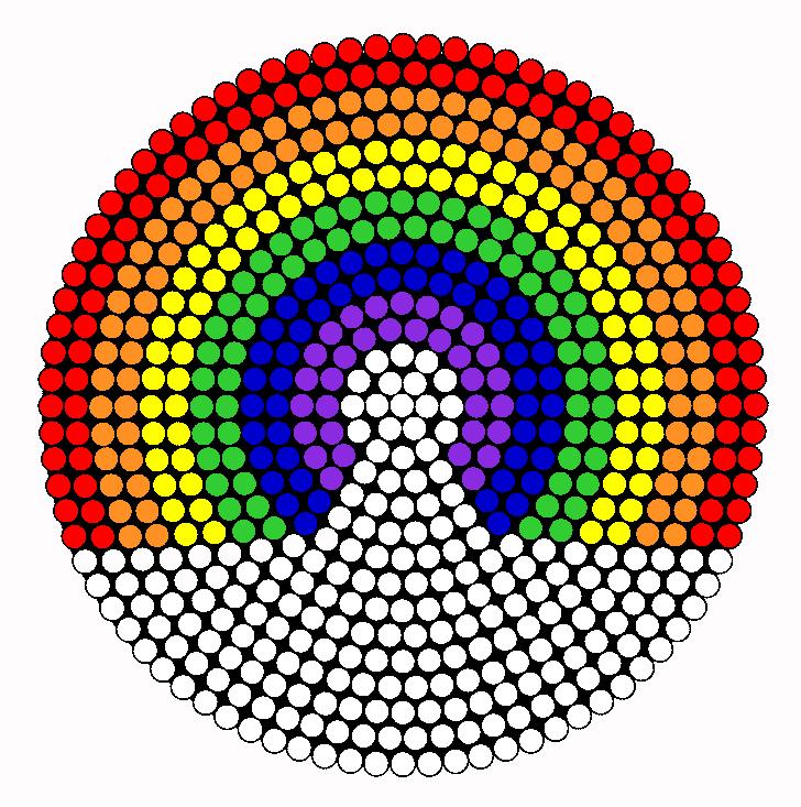 Rainbow Perler