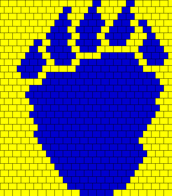 Berkeley University Logo Bead Pattern