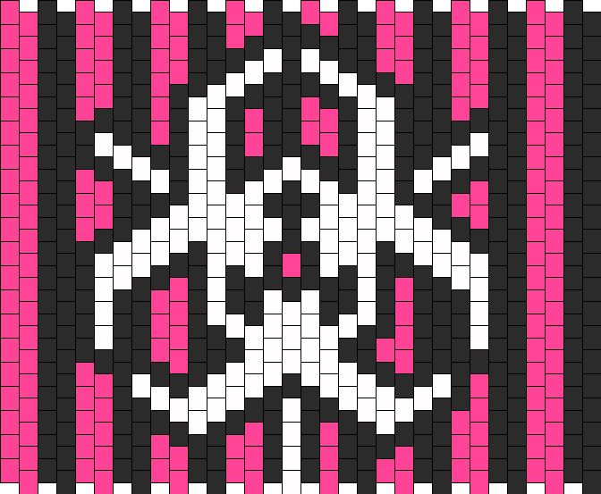 Pink And Black Biohazard