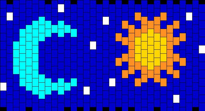 Sun And Moon Kandi Pattern