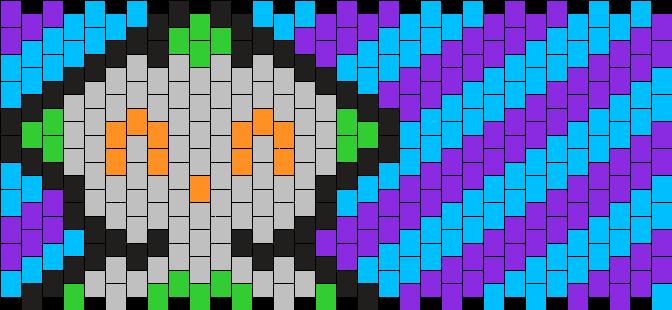 Robot Cuff 3 Kandi Pattern