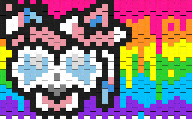 Rainbow Melty Sylveon Cuff Kandi Pattern