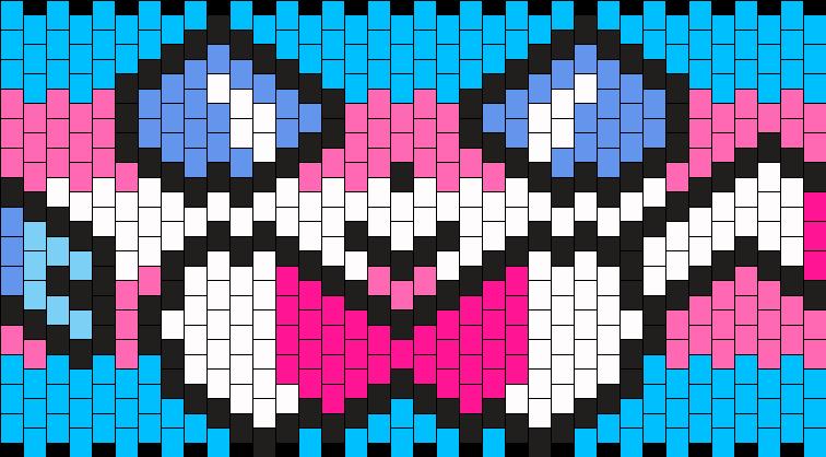 Trans Sylveon Cuff 36x15 Kandi Pattern