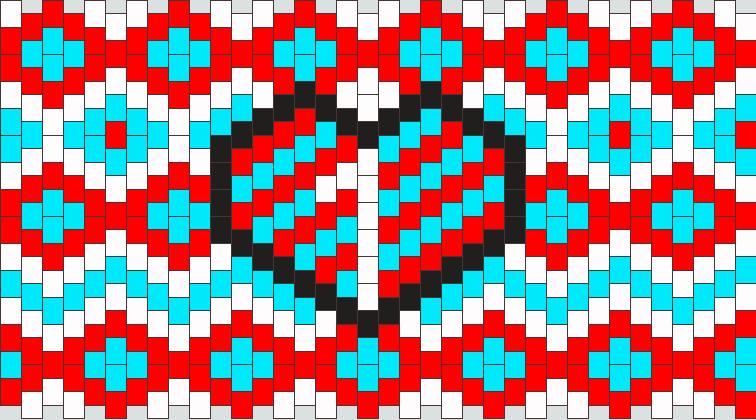 Thing 1 Cuff Kandi Pattern