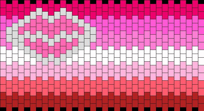 Lipstick Lesbian Flag Kandi Pattern