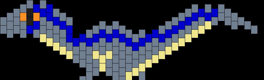 Blue The Raptor Kandi Pattern