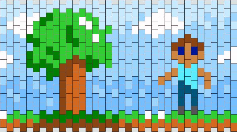 Minecraft Cuff Kandi Pattern