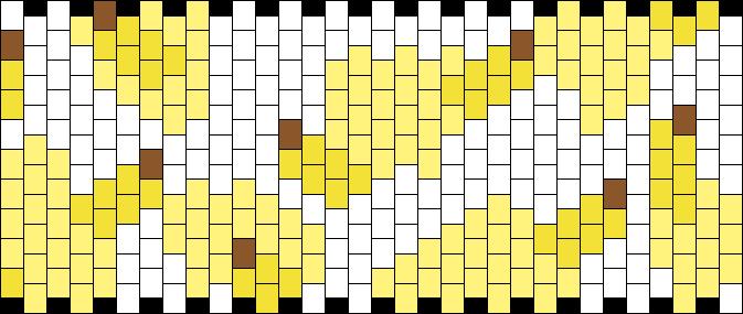 Banana Cow Kandi Pattern