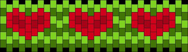 Philza Heart Cuff Kandi Pattern