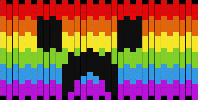 Rainbow Minecraft Creeper
