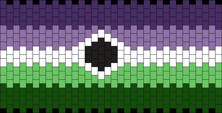 Voidpunk Flag Cuff Pattern