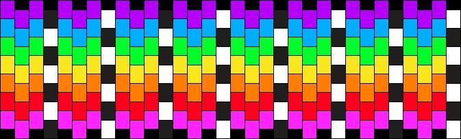 rainbow & checkers