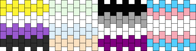 Nonbinary Unlabeled Asexual Transgender Pride Flag