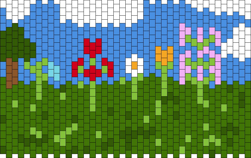 Minecraft Field With Flowers