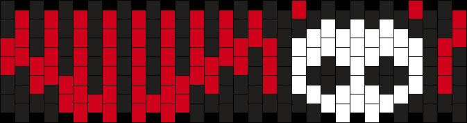 Skelanimal Cuff  Kandi Pattern