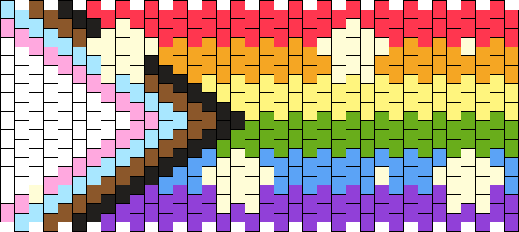 Progress Flag With Tiny Stars