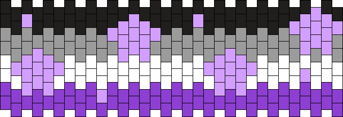 Asexual Flag With Tiny Stars