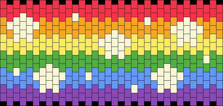 Rainbow Flag With Tiny Stars