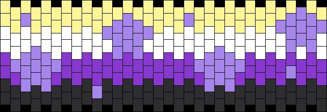Nonbinary Flag With Tiny Stars