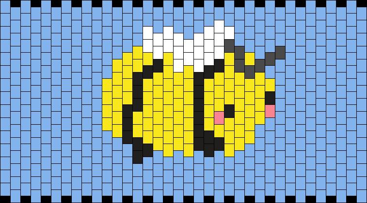 Bee Cuff :> Kandi Pattern