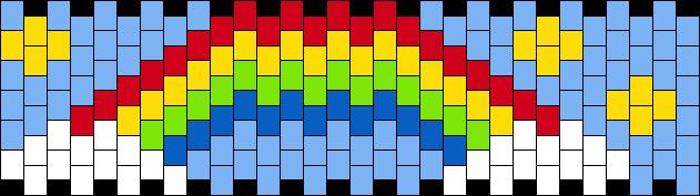 Small Rainbow Kandi Cuff