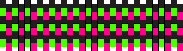 Green + Pink Short Cuff