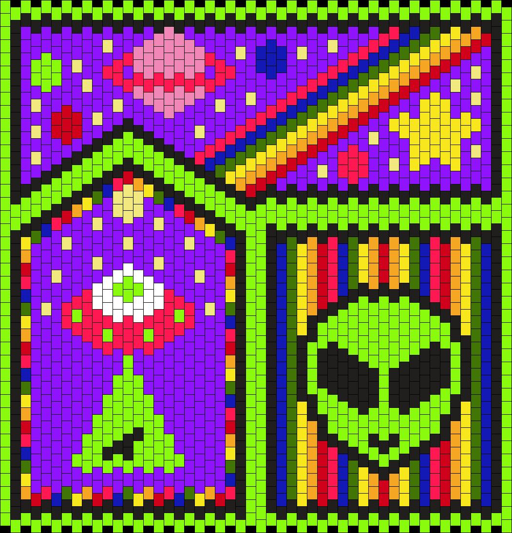 Rainbow Alien Bag Panel