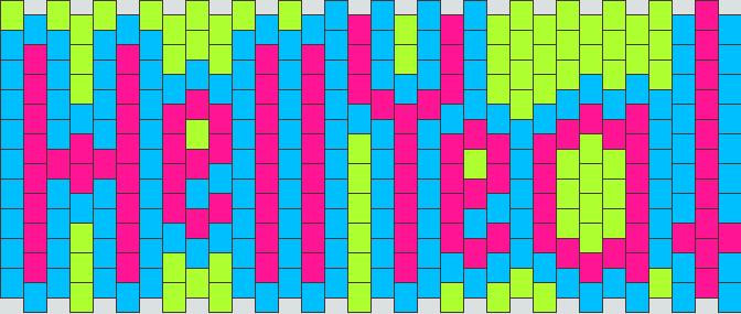 Hell Yea Kandi Pattern