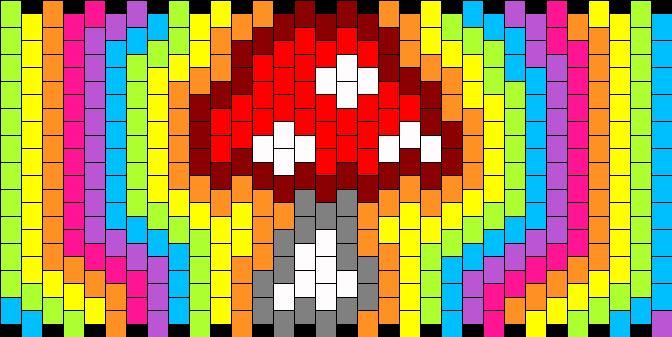 Trippy Rainbow Mushroom