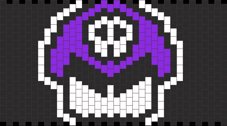 Poison Mushroom Kandi Pattern
