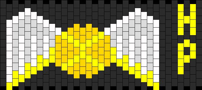 Golden Snitch Kandi Pattern
