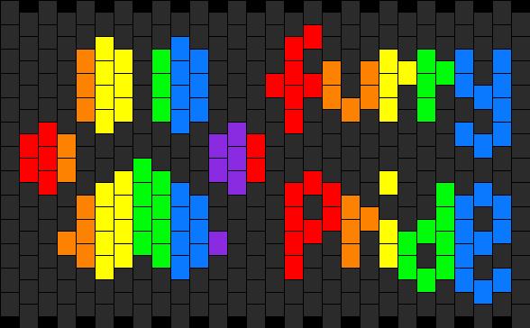 Furry Pride Kandi Pattern