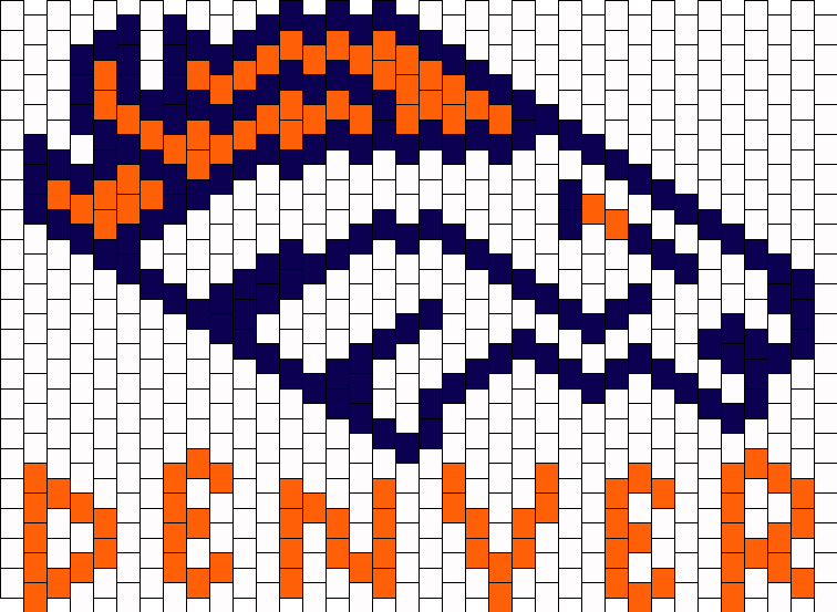 Denver Broncos Football Kandi Pattern