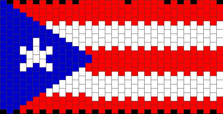 Puerto Rico Flag Pony Bead Patterns Misc Kandi Patterns