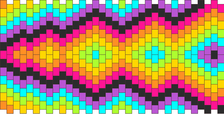 Rainbow Kalidescope Lightning Bolt Kandi Pattern