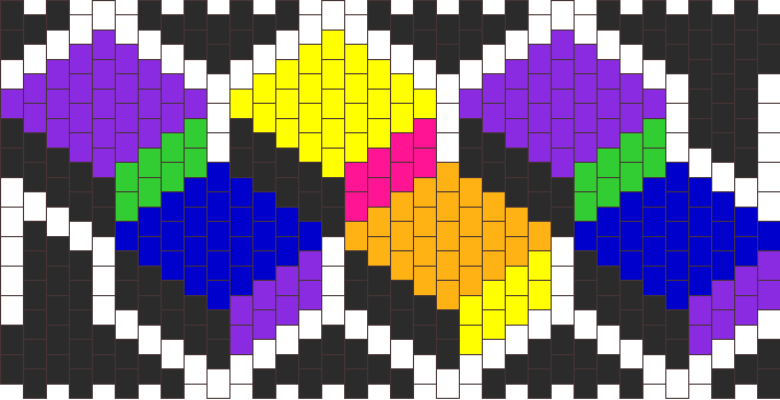 3 D Cubes Kandi Pattern