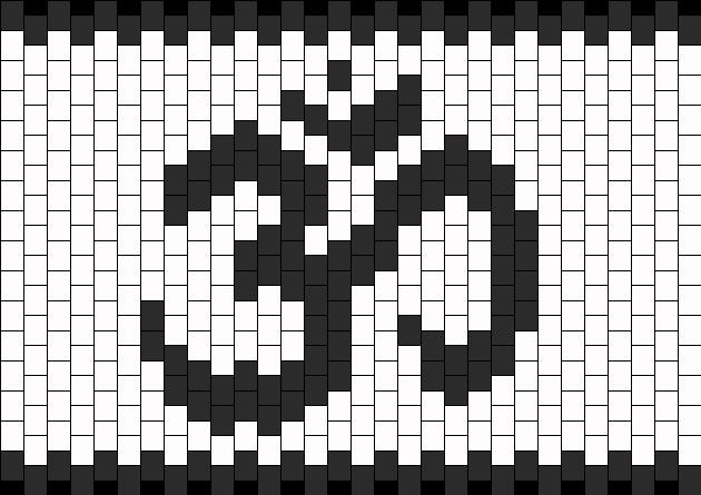 Om Peace Cuff Kandi Pattern