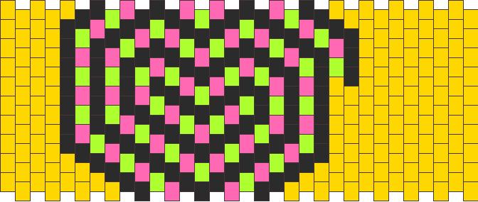 Swirl Candy Heart Kandi Pattern